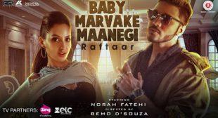 Baby Marvake Maanegi Sung by Raftaar